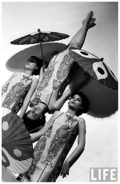 The Dees Triplets  Photo by Nina Leen