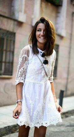 ▷ Spitzenkleid in Weiß - der absolute Sommer-Trend!