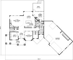 Unique Ranch Home In YShape Design plan 095D0044