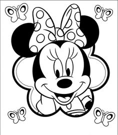 Minnie mouse coloring pages for kids