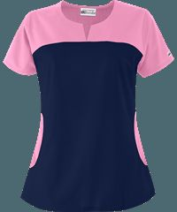 UA+Best+Buy+Rounded+Notch+Neck+Scrub+Top+ Look at pockets Scrubs Outfit, Scrubs Uniform, Cleaning Uniform, Chef Dress, Doctor Scrubs, Greys Anatomy Scrubs, Medical Uniforms, Medical Scrubs, Scrub Tops