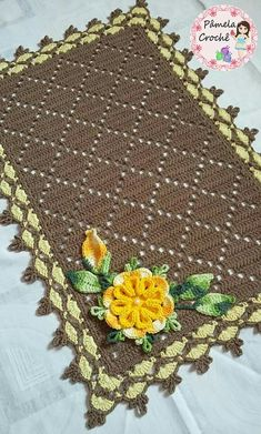 Easy Crochet Blanket, Afghan Crochet Patterns, Crochet Squares, Crochet Doilies, Diy Crafts Crochet, Crochet Home, Crochet Baby, Sewing Crafts, Crochet Carpet