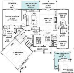 Craftsman Floor Plan   Ranch House Plans   Archival Designs