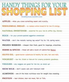 macro biotic shopping list | Found on abigbowloffruit.tumblr.com