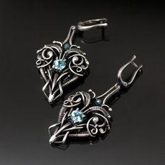 Maleficent Tsavorite Green Garnet Necklace Fine by sarahndippity