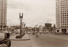 Praça das Bandeiras, 1952. Hagop G. São Paulo do Passado