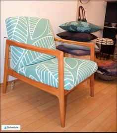 50's armchair, with dkhoi DT fabric!