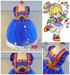 Rainbow Brite Tutu dress Rainbow Brite tulle by GlitterMeBaby, $85.00