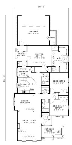 Traditional House Plan First Floor - 055D-0046 | House Plans and More