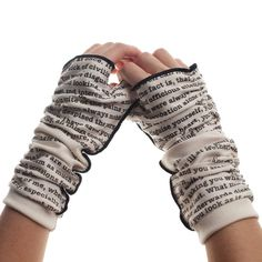 Pride and Prejudice Writing Gloves   pretty much my favorite passage from p&p, so idk...might want them more than the anne writing gloves...or i could just get both