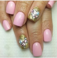 Pink gold and dazzles