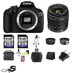 photo-video: Canon EOS Rebel T5 1200D SLR Camera w/18-55mm Lens 24GB Kit #Camera - Canon EOS Rebel T5 1200D SLR Camera w/18-55mm Lens 24GB Kit...