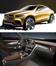 Perfectly shaped: With its modern and sensual design idiom, the Concept GLC Coupé gives a foretaste of future SUV models from Mercedes-Benz.