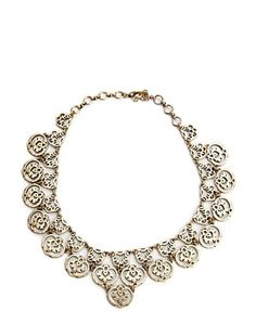 Gold Openwork Collar Necklace - Ease Into Cate - Lucky Brand Jeans
