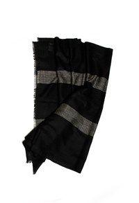 Shahmina,The Carpet Cellar,Shahmina Stole - Black and White