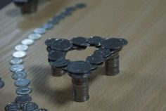 physics experiment with coins