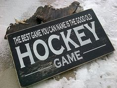 Items similar to The best game you can name is the good old HOCKEY game wooden sign by on Etsy Wooden Diy, Wooden Signs, Hockey Room, Sports Signs, Hockey Sticks, Hockey Stuff, Good Ole, Best Games, Peeps