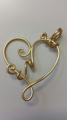 anhänger crazy heart schmuckdraht gold Crazy Heart, Bangles, Bracelets, Gold, Diy, Jewelry, Copper Wire, Heart, Jewerly