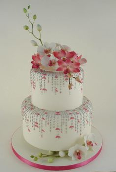 flowers orchids garden cake