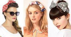 """4 cách làm duyên cho tóc với khăn họa tiết - Từ lâu, những chiếc khăn voan, lụa màu mè nhiều họa tiết đã là một item không thể thiếu khi Hè đến để mái tóc thêm đáng yêu, cá tính. Cùng với độ hot của trào lưu retro, kiểu khăn vintage này càng được nhiều teen girl ưa chuộng. Đây cũng là kiểu mốt được nhiều sao Hollywood nhiệt tình """"lăng xê"""" trong mùa nắng nóng."""