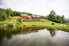 Amazing scenery from the Amee Lodge and pond great option for a beautiful wedding in Vermont- photo Cronin Hill