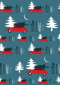 Cars gift wrap by Pleased to Meet | Printed on cream colored, natural paper from responsible forestry, with a silky smooth surface. Designed and printed in local production in Germany
