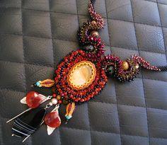 Red Hyacinth Sunshine Beauty Necklace
