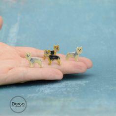 Dorota Kozłowska DORCA Mini yorkshire terrier- ceramic stud earrings http://polandhandmade.pl/ #polandhandmade #ceramic #ceramicearrings