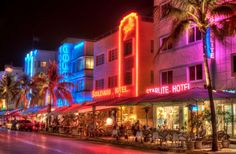 Great Art Deco Architecture!  Just enhanced by all the colorful neon lights at night...and oh what a nightlife!!!