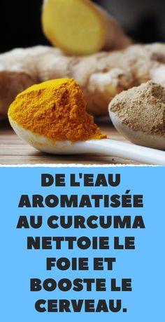 De l'eau aromatisée au curcuma nettoie le foie et booste le cerveau. Detox Drinks, Healthy Drinks, Healthy Tips, Best Body Cleanse, Body Detox, Lemon Drink, Weight Loss Drinks, Smoothies, Food And Drink