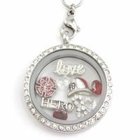 Infinity Love Fireman Hero Charm Necklace