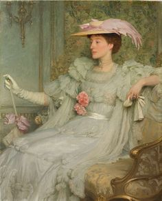 """masterpiece portraits paintings - www.fineartconnoisseur.com400 × 498Search by image Sir Frank Dicksee, """"Portrait of Lady Hillingdon,"""" 1904, oil on canvas, 50 x 40 in. James Harvey British & Sporting Art at Masterpiece London - Google.com"""