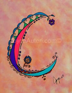C2 4x6 print on high quality paper, embellished with glitter, matted & framed to 5x7, ready to hang or display on shelf: $35