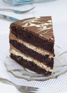 Tuxedo Cake is rich chocolate cake with double chocolate filling (white and dark chocolate) and marbled chocolate topping. Triple Layer Chocolate Cake, Easy Chocolate Desserts, Chocolate Topping, Homemade Chocolate, Chocolate Recipes, Chocolate Grooms Cake, Cake Recipes, Dessert Recipes, Baking Desserts