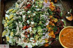 Autumn Cobb Salad with Smoky Pumpkin Dressing