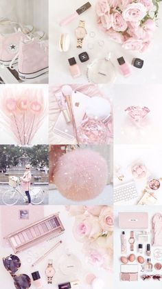 Iphone wallpaper · aesthetic collage · ♡ breakfast at jenny's ♡ stylus, pastel colors, pastel pink, pink purple, Aesthetic Pastel Wallpaper, Trendy Wallpaper, Aesthetic Wallpapers, Cute Wallpapers, Pink Love, Cute Pink, Rose Gold Aesthetic, Pink Wallpaper Iphone, Gold Wallpaper