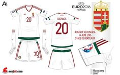 Hungary away kit for Euro 2016.