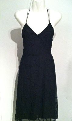 TOCCA ANTHROPOLOGIE 100% Silk Embroidered Spaghetti Strap Dress 28 Waist SZ 4 EUC #Tocca $59.99  Fast & Free Ship!