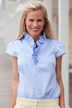 elizabeth mckay seersucker blouse