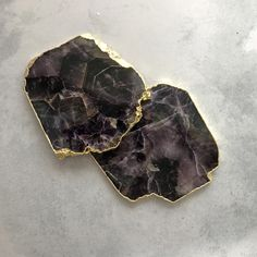 COASTERS | AMETHYST | SET of 2 – The Chairman Homeware and Furniture Co. South African Shop, Stone Coasters, Natural Stones, Amethyst, Shops, Colours, Purple, Random, Unique
