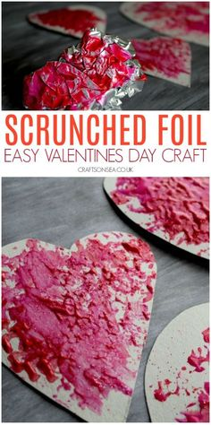 This simple Valentines Day activity is perfect for toddlers and preschoolers. Make some easy heart crafts using a fun painting technique valentines day day day cards day crafts day food day ideas geschenk spruch Toddler Crafts Valentines Day, Kinder Valentines, Valentine's Day Crafts For Kids, Toddler Art Projects, Valentines Day Activities, Valentine Crafts, Fun Crafts, Simple Crafts, Saint Valentine