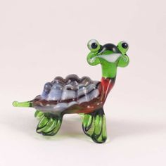 Glass Figurine. Glass Brown Turtle Figure is a hand-blown glass figurine which is made by ... http://russian-crafts.com/glass-figurines/glass-reptiles/glass-brown-turtle-119.html