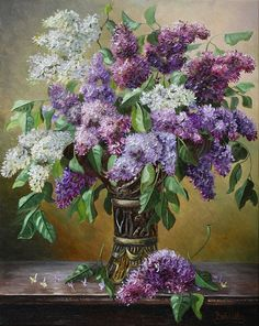 artist Ivanov Vladimir, Lilac vase metalicheskoj