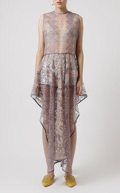 Embroidered Symmetrical Dress  by Saptodjojokartiko | Moda Operandi