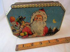Superb Santa & Golly Christmas Children's Toffee Candy Tin c1920s | eBay