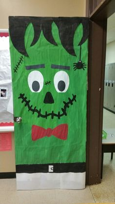 Frankenstein Door Decor! With inspiration from other door decoration ideas on line I made one & Frankenstein door | Door Ideas! | Pinterest pezcame.com
