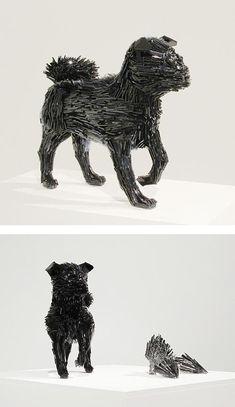 Shattered Glass Animals by Marta Klonowska | Inspiration Grid | Design Inspiration