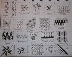 TANGLE PATTERNS PAGE 16 OF 19- #doodles #zendoodle # doodle-----Tekenpraktijk De Innerlijke Wereld: Tangle-patronen