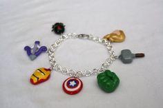 Marvel Avengers bracelet by LittleLoveInc.deviantart.com on @deviantART