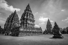 Prambanan Temple is UNESCO World Heritage Site, is the largest Hindu temple in Indonesia, and is one of the largest Hindu temples in Southeast Asia measuring 47m high. - Wiki